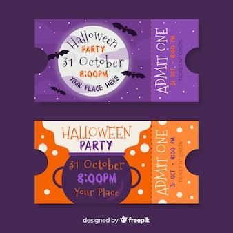 Biglietti per la luna piena nella stregoneria di halloween