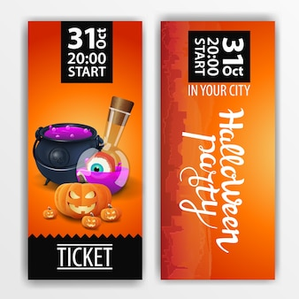 Biglietto arancione per la festa di halloween