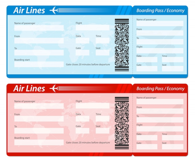 Biglietto d'imbarco aereo per i viaggi in aereo.
