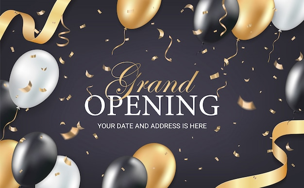 Biglietto d'invito festa di grande apertura