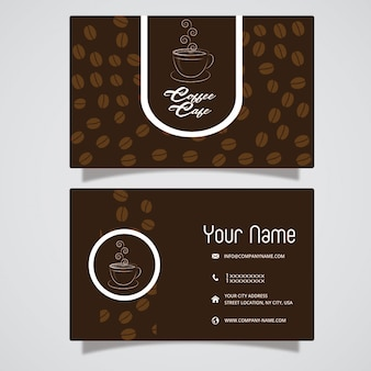 Biglietto da caffè marrone