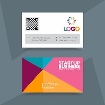 Biglietto da visita aziendale startup aziendale