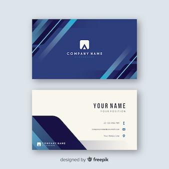 Biglietto da visita blu astratto con logo
