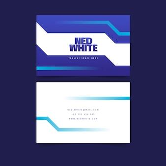 Biglietto da visita blu classico astratto