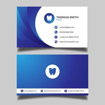 Biglietto da visita blu dentale