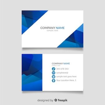Biglietto da visita blu e bianco