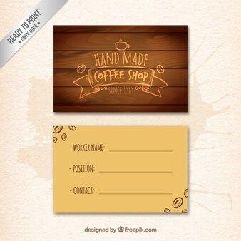 Biglietto da visita caffè fatto a mano