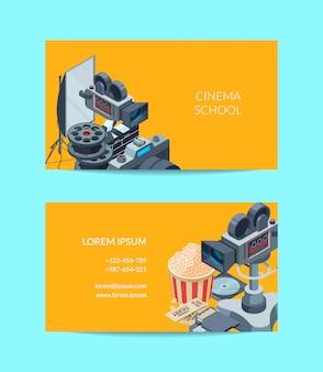 Biglietto da visita cinematografico del modello impostato