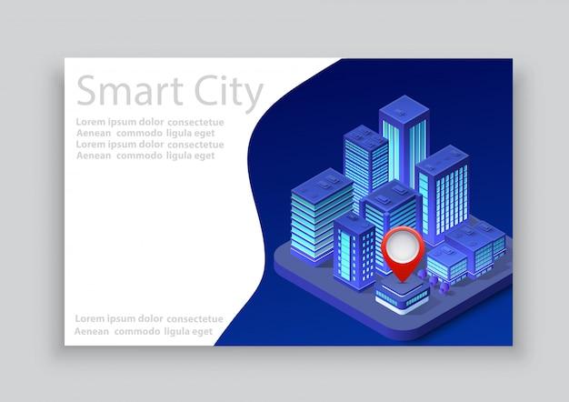 Biglietto da visita città isometrica