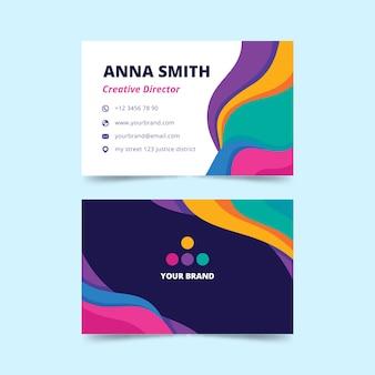 Biglietto da visita colorato astratto