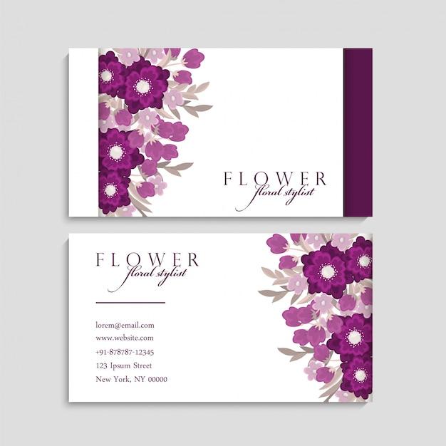 Biglietto da visita con bellissimi fiori.