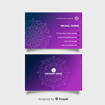 Biglietto da visita con design mandala