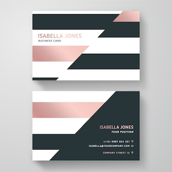 Biglietto da visita dal design minimale