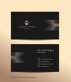 Biglietto da visita design di lusso con modello minimalista stile oro