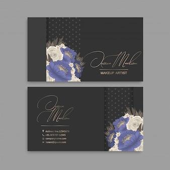 Biglietto da visita di design floreale