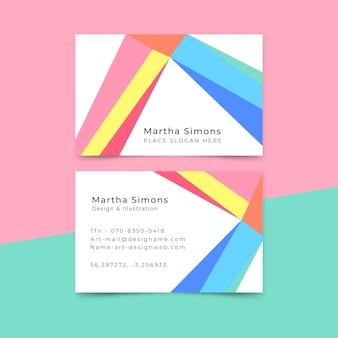 Biglietto da visita di design in stile minimalista