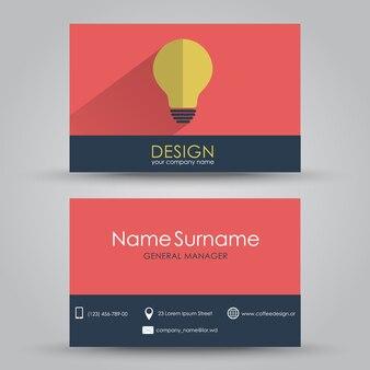 Biglietto da visita di design