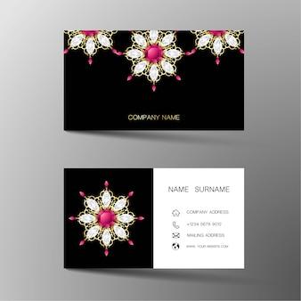 Biglietto da visita di lusso ispirato ai diamanti.