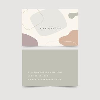 Biglietto da visita di macchie di colore pastello