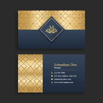 Biglietto da visita dorato di lusso