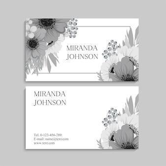 Biglietto da visita e biglietto da visita con fiori