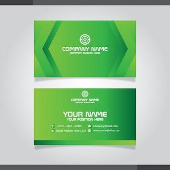 Biglietto da visita e biglietto da visita creativi moderni verdi