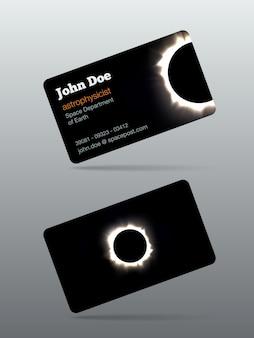 Biglietto da visita eclissi