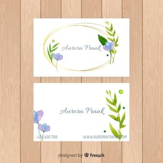 Biglietto da visita floreale bella dell'acquerello