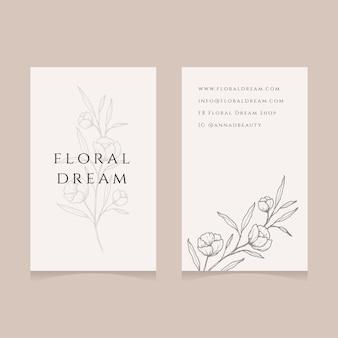 Biglietto da visita floreale tenero ed elegante