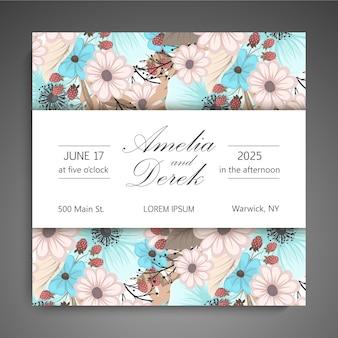Biglietto da visita floreale