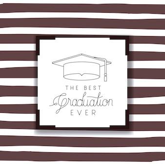 Biglietto da visita graduato con cappello graduato