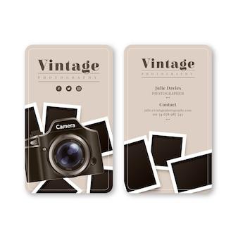 Biglietto da visita in bianco e nero per la fotografia