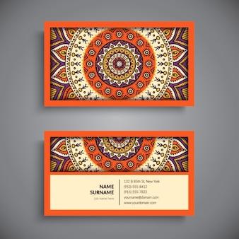 Biglietto da visita in stile boho