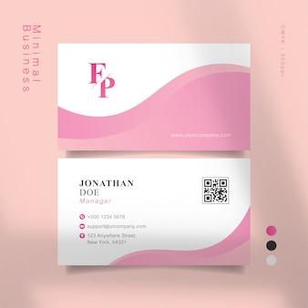 Biglietto da visita rosa dolce