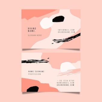 Biglietto da visita rosa sfumato dipinto a mano