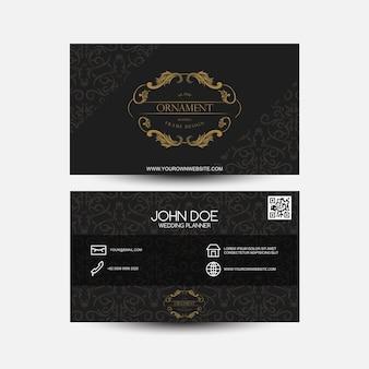 Biglietto da visita vintage oro e nero