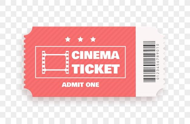 Biglietto del cinema isolato. .