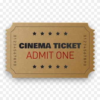 Biglietto del cinema isolato.
