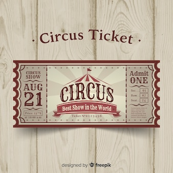 Biglietto del circo d'epoca