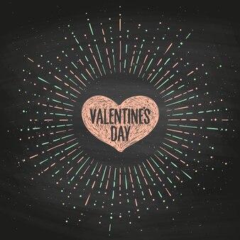 Biglietto di auguri con cuore rosa e messaggio di san valentino.
