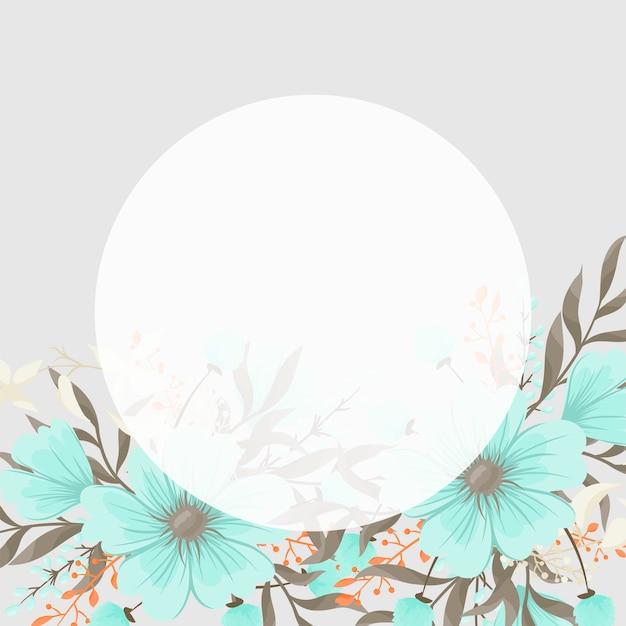 Biglietto di auguri con fiori, acquerello.