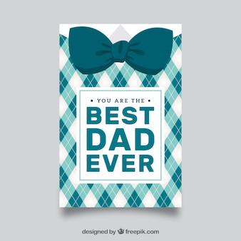 Biglietto di auguri del giorno del padre con cravatta decorativa di arco
