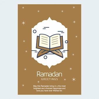 Biglietto di auguri del ramadan