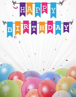 Biglietto di auguri di felice compleanno celebrazione