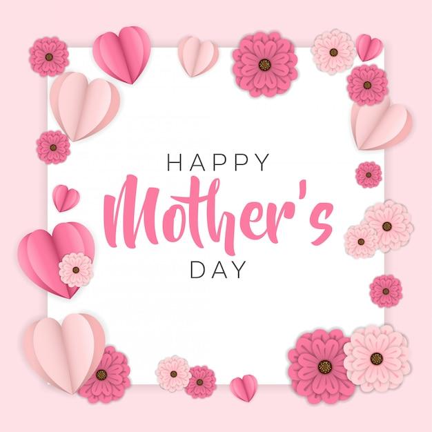 Biglietto di auguri felice giorno della madre