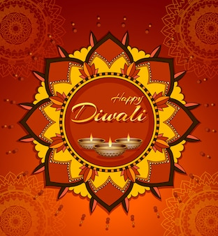 Biglietto di auguri festival diwali