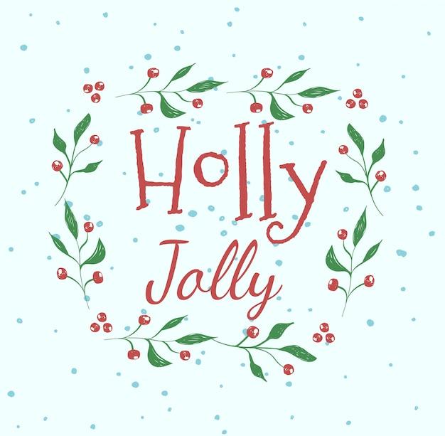 Biglietto di auguri holly jolly