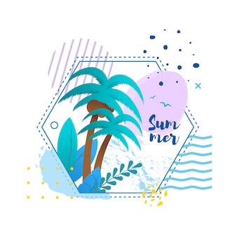 Biglietto di auguri in cornice tropicale