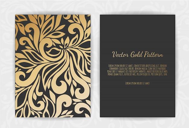 Biglietto di auguri in oro su fondo nero