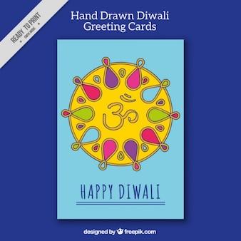 Biglietto di auguri ornamentale di diwali